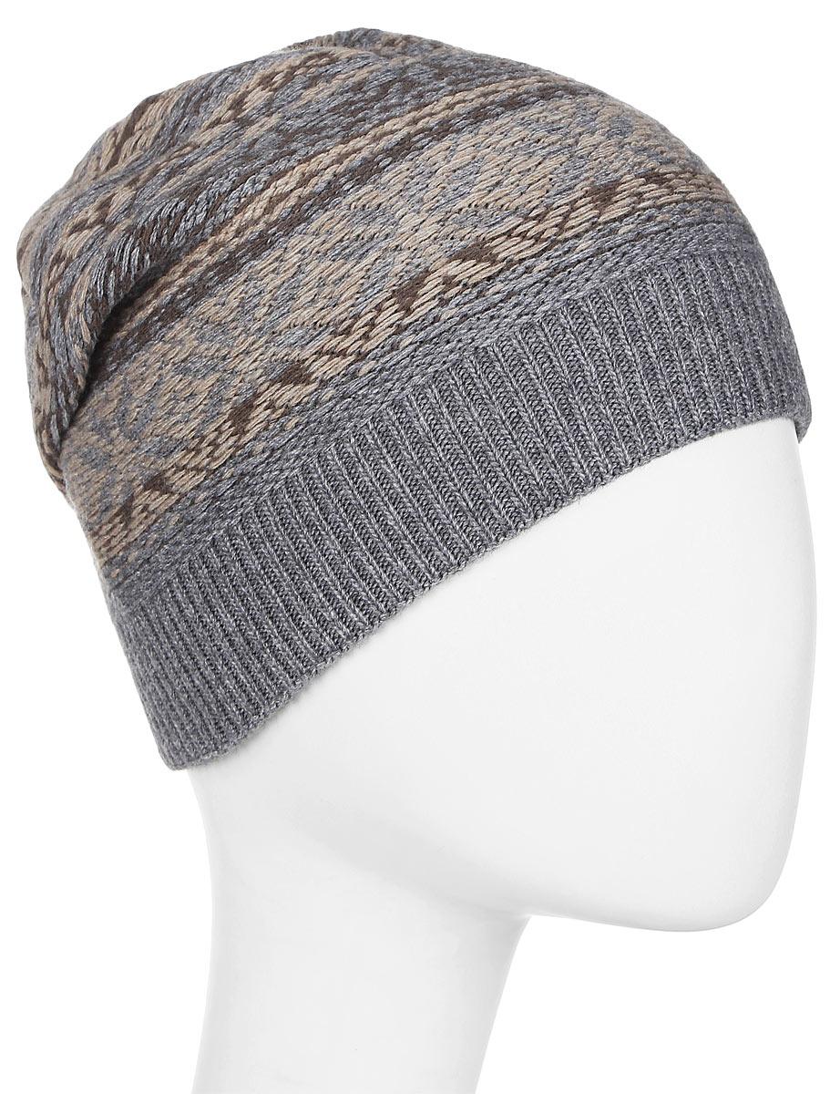 Шапка мужская Marhatter, цвет: серый. Размер 57/59. MMH6723/3MMH6723/3Стильная шапка выполнена из тонкого кашемира. Идеальный вариант на каждый день.