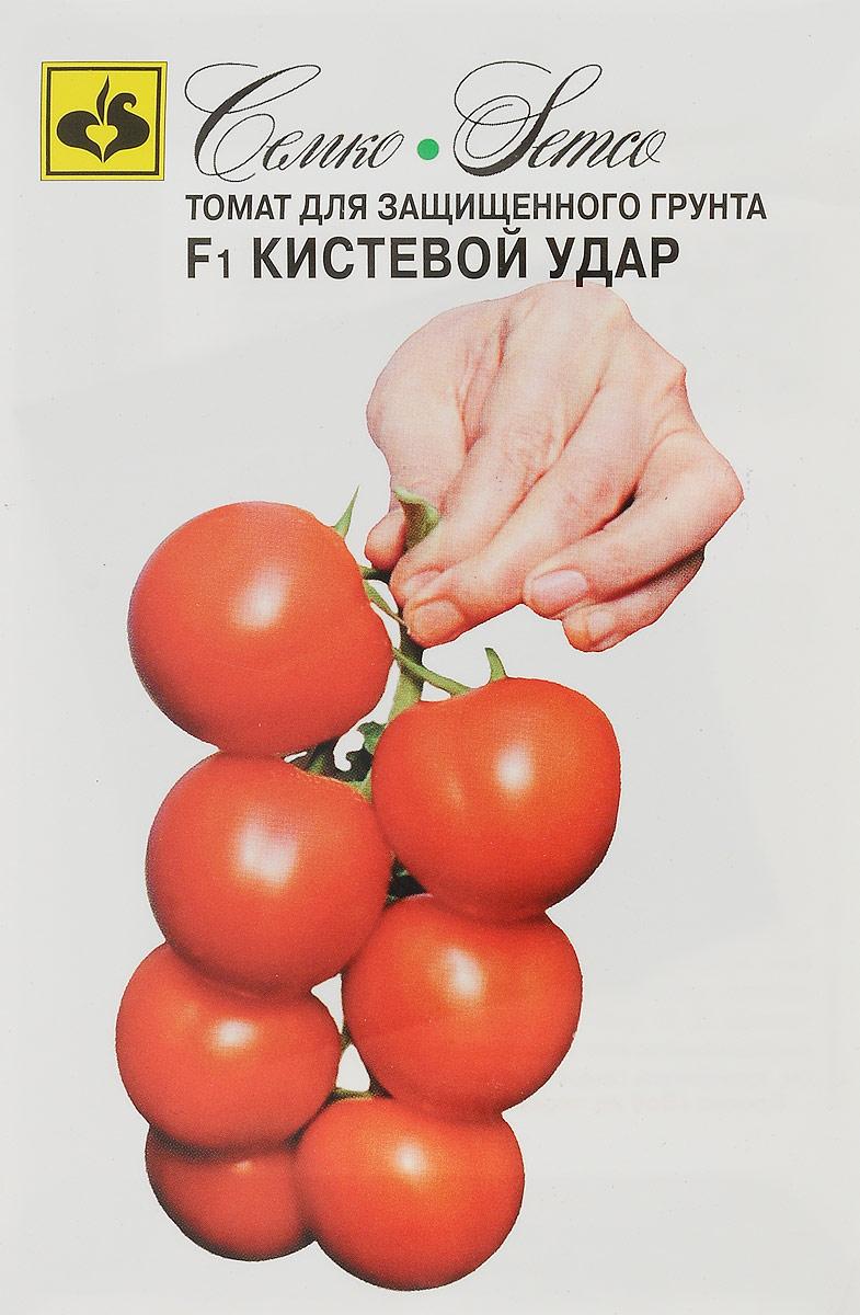 Семена Семко Томат Кистевой удар F14640001822414Семена Семко Томат Кистевой удар F1 - гибрид раннеспелый, индетерминантный, кистевого типа. От всходов до созревания 95-105 дней. Растение компактное. Первая кисть с 6-7 плодами закладывается над 9-11 листом. Плоды округлые, насыщенной красной окраски без зеленого пятна, гладкие, плотные, массой 130-150 г. Вкус, товарность и транспортабельность хорошие. Устойчив к вирусу бронзовости томата (TSWV), вирусу томатной мозаики (TоMV), вирусу желтого скручивания листьев (TYLCV), фузариозу (Fol 1-2) и к галловым нематодам (Mi, Ma). Уборка кистями или отдельными плодами. Вкусовые и товарные качества сохраняются в течение 20-30 дней после уборки. Используется для потребления в свежем виде. Рекомендуется для выращивания во всех типах теплиц. Густота посадки 2,5-3 растения/м2, схема посадки 70х40 см. Урожайность свыше 27 кг/м2.Товар сертифицирован. Уважаемые клиенты! Обращаем ваше внимание на то, что упаковка может иметь несколько видов дизайна. Поставка осуществляется в зависимости от наличия на складе.