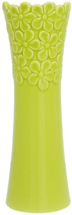 Ваза Elan Gallery Салатовая с цветами, цвет: салатовый, высота 22 см, 0,4 л110930Декоративная ваза украсит Ваш интерьер и будет прекрасным подарком для Ваших близких! Оригинальный дизайн наполнит Ваш дом праздничным настроением. Изделие имеет подарочную упаковку, поэтому станет желанным подарком для Ваших близких!