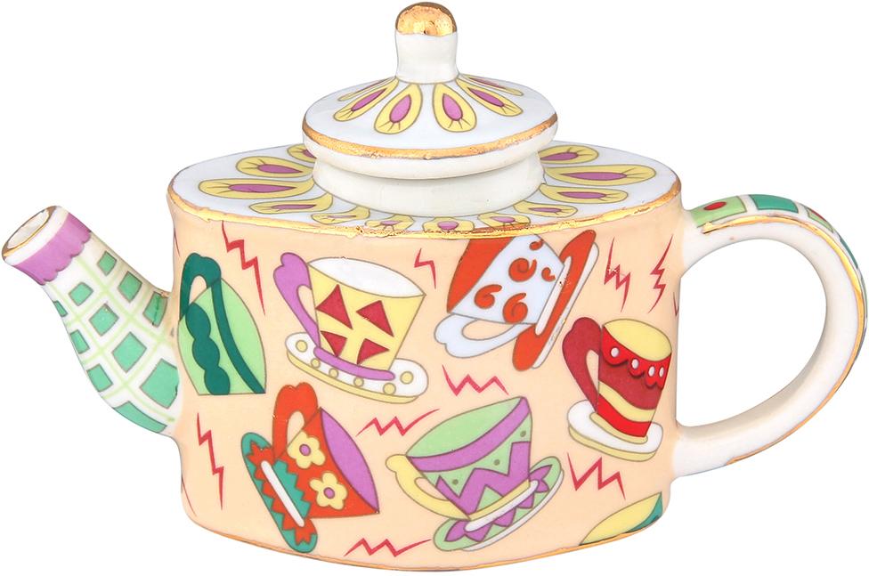 Чайник декоративный Elan Gallery Чашечки, цвет: бежевый, 100 мл
