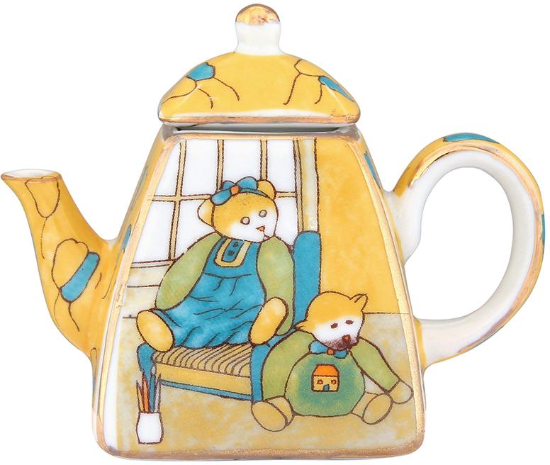 Чайник декоративный Elan Gallery Мишки, цвет: желтый, 100 мл360038Сувениры - традиционное украшение нашего жилья. Декоративный чайник станет прекрасным дополнением к интерьеру вашей кухни, а так же приятным презентом на любой праздник.