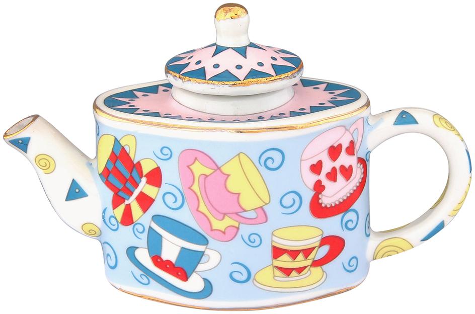 Чайник декоративный Elan Gallery Разноцветные чашки, цвет: голубой, 100 мл360042Сувениры - традиционное украшение нашего жилья. Декоративный чайник станет прекрасным дополнением к интерьеру вашей кухни, а так же приятным презентом на любой праздник.