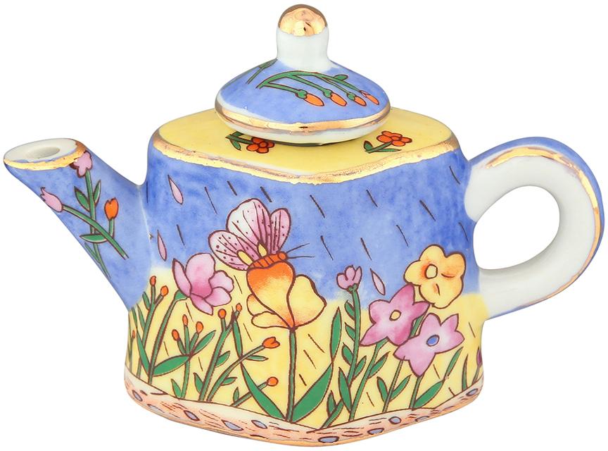 Чайник декоративный Elan Gallery Цветочный луг, цвет: голубой, 100 мл360053Сувениры - традиционное украшение нашего жилья. Декоративный чайник станет прекрасным дополнением к интерьеру вашей кухни, а так же приятным презентом на любой праздник.