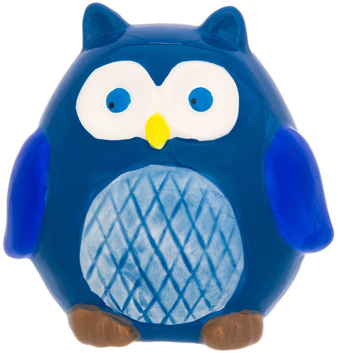 Копилка Elan Gallery Сова, цвет: синий, 11 х 9 х 11 см380077Символ мудрости и рациональности - птица, ставшая талисманом всех знатоков мира. Копилка, изображающая эту птицу, будет хорошим подарком всем, кому вы желаете тратить свои сбережения разумно.