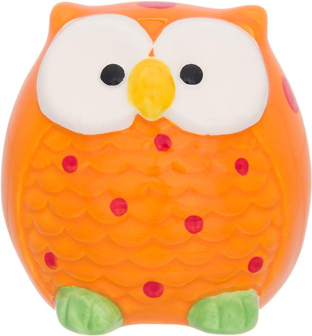 Копилка Elan Gallery Сова, цвет: оранжевый, 10 х 8 х 10 см380078Символ мудрости и рациональности - птица, ставшая талисманом всех знатоков мира. Копилка, изображающая эту птицу, будет хорошим подарком всем, кому вы желаете тратить свои сбережения разумно.