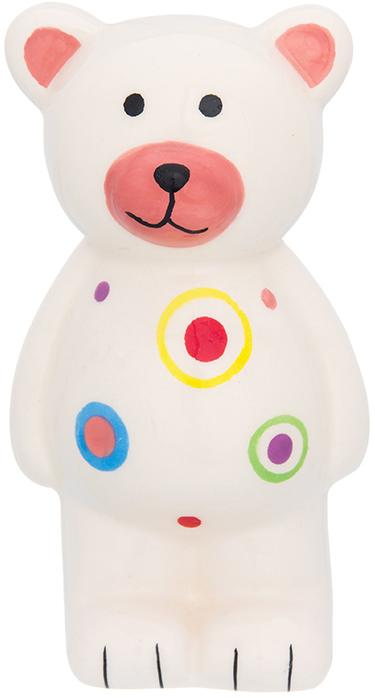 Копилка Elan Gallery Медвежонок, цвет: белый, 8 х 7 х 14,5 см380079Копилка для ребёнка поможет родителям в воспитательном процессе. Поощряйте чадо монетками за хорошие дела: уборку игрушек, выполнение заданий, выученное стихотворение. Предложите ему откладывать на то, а чём он так мечтает. Так малыш станет более ответственным, а процесс накопления денег превратится в игру.Изделие с забавным животным станет ярким украшением детской комнаты.