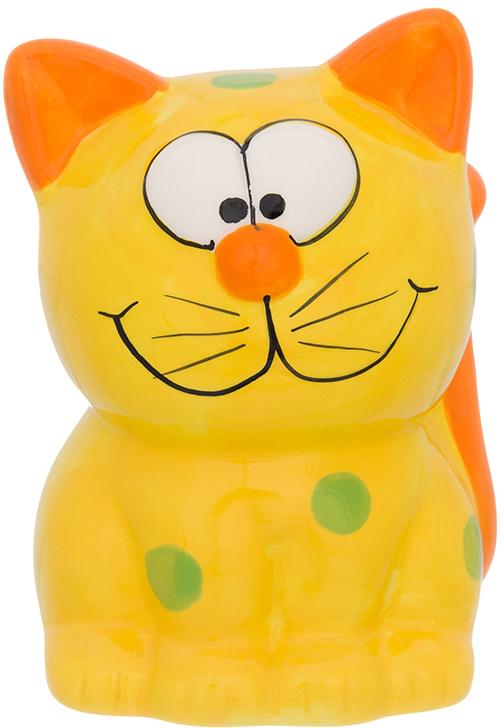Копилка Elan Gallery Забавный котик, цвет: оранжевый, 9 х 8 х 12,5 см380080Копилка для ребёнка поможет родителям в воспитательном процессе. Поощряйте чадо монетками за хорошие дела: уборку игрушек, выполнение заданий, выученное стихотворение. Предложите ему откладывать на то, а чём он так мечтает. Так малыш станет более ответственным, а процесс накопления денег превратится в игру.Изделие с забавным животным станет ярким украшением детской комнаты.