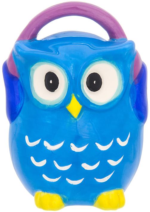 Копилка Elan Gallery Сова в наушниках, цвет: синий, 9,3 х 8 х 12,5 смОРАЗ-0029Символ мудрости и рациональности - птица, ставшая талисманом всех знатоков мира. Копилка, изображающая эту птицу, будет хорошим подарком всем, кому вы желаете тратить свои сбережения разумно.