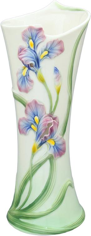 Ваза Elan Gallery Ирисы, цвет: белый, высота 35,5 см, 1,8 л