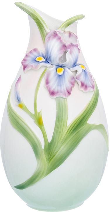 Ваза Elan Gallery Ирисы, цвет: белый, высота 27,5 см, 2,2 л ваза elan gallery сакура цвет белый высота 46 см 2 5 л