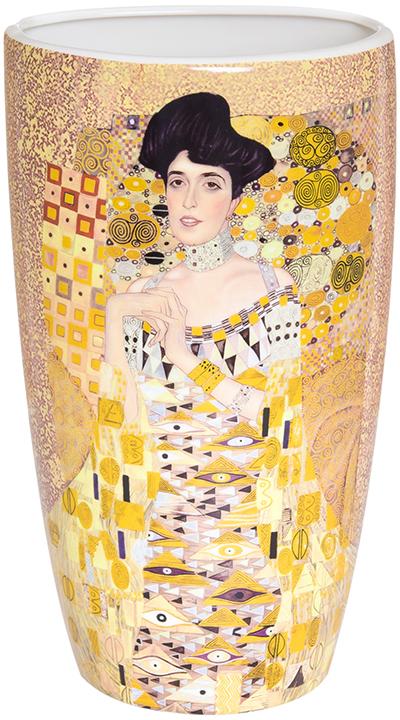 Ваза Elan Gallery Золотая Адель, цвет: золотистый, высота 22,5 см, 1,5 л