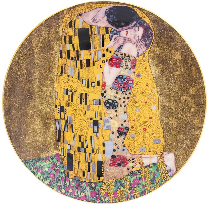 Тарелка декоративная Elan Gallery Поцелуй, с подставкой, цвет: золотистый, диаметр 20 см420183Декоративная тарелка отлично смотрится в любом интерьере. Устанавливается на специальную подставку, которая входит в комплект. Размер 20х20х2 см.