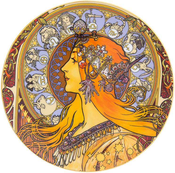 """Декоративная тарелка Elan Gallery """"Зодиак"""", изготовленная из фарфора, станет необыкновенным подарком и прекрасным украшением вашего интерьера.  Тарелку можно разместить на пластиковой подставке, которая входит в комплект."""