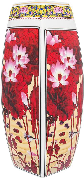 Ваза Elan Gallery Цветок лотоса, цвет: бордовый, высота 30 см, 3 л501917Декоративная ваза станет прекрасным дополнением интерьера. В такой вазе любой, даже самый скромный букет будет выглядеть замечательно!