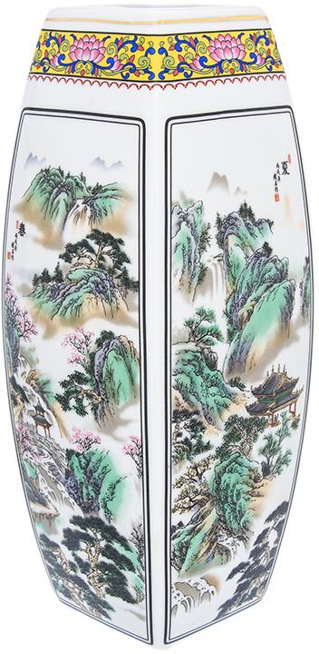 Ваза Elan Gallery Горная лощина, цвет: белый, высота 30 см, 3 л
