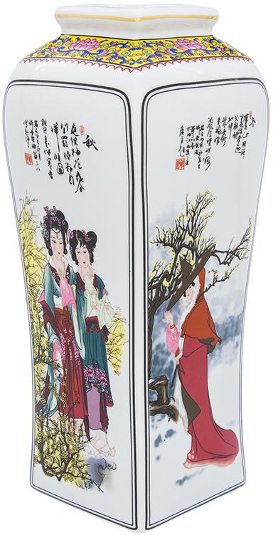 Ваза Elan Gallery Китаянка, цвет: белый, высота 30 см, 3 л. 501926 elan gallery