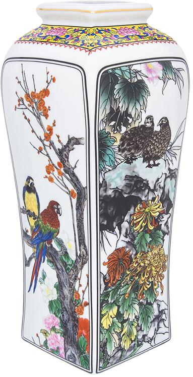 Ваза Elan Gallery Птицы в цветах, цвет: белый, высота 30 см, 3 л501928Декоративная ваза украсит Ваш интерьер и будет прекрасным подарком для Ваших близких! Оригинальный дизайн наполнит Ваш дом праздничным настроением. Изделие имеет подарочную упаковку, поэтому станет желанным подарком для Ваших близких!