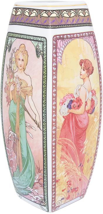 Ваза Elan Gallery Времена года, цвет: бежевый, высота 30 см, 3 л printio свитшот унисекс с полной запечаткой