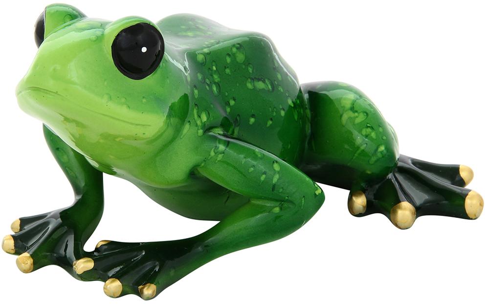 Фигурка декоративная Elan Gallery Лягушка, цвет: зеленый, 14 х 13,5 х 7 см870012Декоративные фигурки в виде забавных лягушат, изготовленные из полистоуна, станут необычным аксессуаром для вашего интерьера. Эти очаровательные вещицы станут отличным подарком Вашим друзьям и близким.