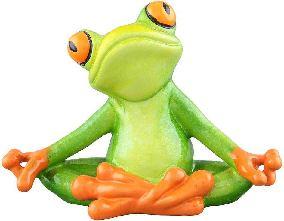 Фигурка декоративная Elan Gallery Лягушка-йог, цвет: зеленый, 11 х 4,5 х 8,2 см фигурки elan gallery фигурка лягушка модница