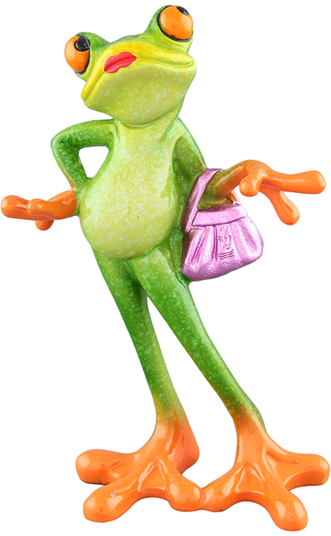 Фигурка декоративная Elan Gallery Лягушка-модница, цвет: зеленый, 10 х 5,5 х 15 см870084Декоративные фигурки в виде забавных лягушат, изготовленные из полистоуна, станут необычным аксессуаром для вашего интерьера. Эти очаровательные вещицы станут отличным подарком Вашим друзьям и близким.