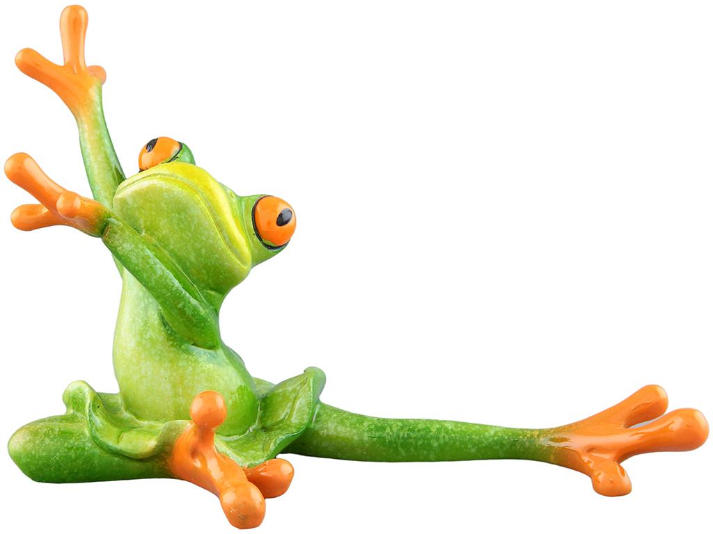 Фигурка декоративная Elan Gallery Лягушка-балерина, цвет: зеленый, 15,3 х 8 х 10,5 см870086Декоративные фигурки в виде забавных лягушат, изготовленные из полистоуна, станут необычным аксессуаром для вашего интерьера. Эти очаровательные вещицы станут отличным подарком Вашим друзьям и близким.