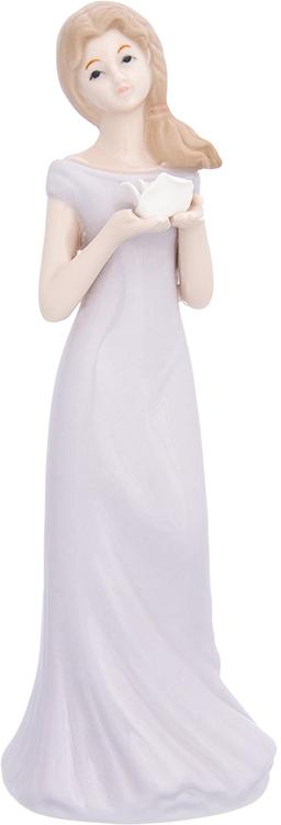 Фигурка декоративная Elan Gallery Девушка в сиреневом платье, цвет: сиреневый, 7 х 6 х 19 см870230Изящная фарфоровая статуэтка в классическом стиле украсит ваш дом, а также станет идеальным подарком для дам.