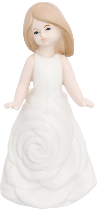 Фигурка декоративная Elan Gallery Девочка в белом платье, цвет: белый, 8 х 7 х 16,5 см870234Изящная фарфоровая статуэтка в классическом стиле украсит ваш дом, а также станет идеальным подарком для дам.