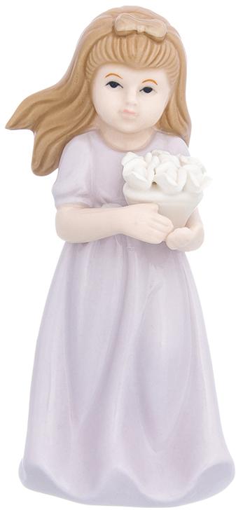 Фигурка декоративная Elan Gallery Девочка в сиреневом платье с цветами, цвет: сиреневый, 7 х 7 х 15,2 см870235Изящная фарфоровая статуэтка в классическом стиле украсит ваш дом, а также станет идеальным подарком для дам.