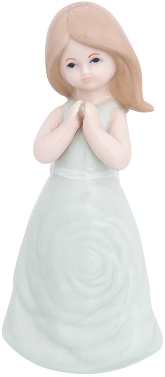 Фигурка декоративная Elan Gallery Девочка в бирюзовом платье, цвет: бирюзовый, 6,2 х 4,5 х 13 см870237Изящная фарфоровая статуэтка в классическом стиле украсит ваш дом, а также станет идеальным подарком для дам.