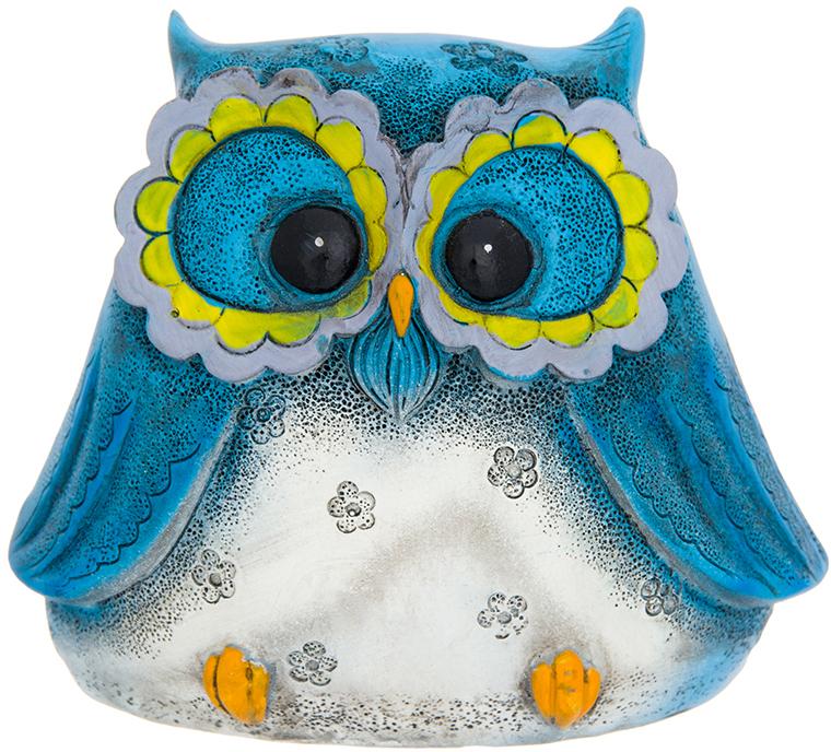 Копилка Elan Gallery Сова голубая, цвет: голубой, 10,5 х 6,5 х 8,5 см980040Символ мудрости и рациональности - птица, ставшая талисманом всех знатоков мира. Копилка, изображающая эту птицу, будет хорошим подарком всем, кому вы желаете тратить свои сбережения разумно.