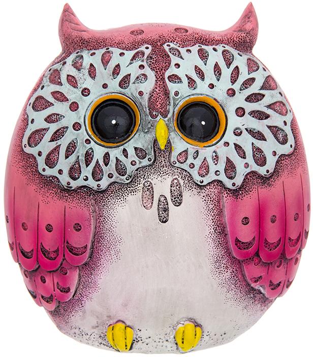 Копилка Elan Gallery Сова малиновая, цвет: черно-серый, 10,2 х 7 х 11 см980041Символ мудрости и рациональности - птица, ставшая талисманом всех знатоков мира. Копилка, изображающая эту птицу, будет хорошим подарком всем, кому вы желаете тратить свои сбережения разумно.
