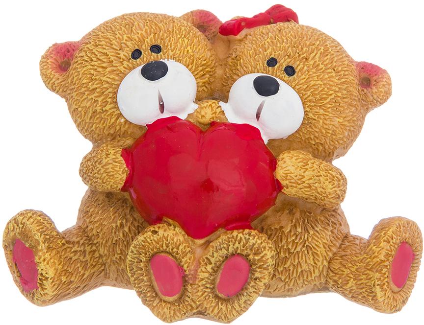 Фигурка декоративная Elan Gallery Медвежата с сердцем, цвет: коричневый, 9 х 5 х 6 см фигурки elan gallery фигурка декоративная кот почтальон