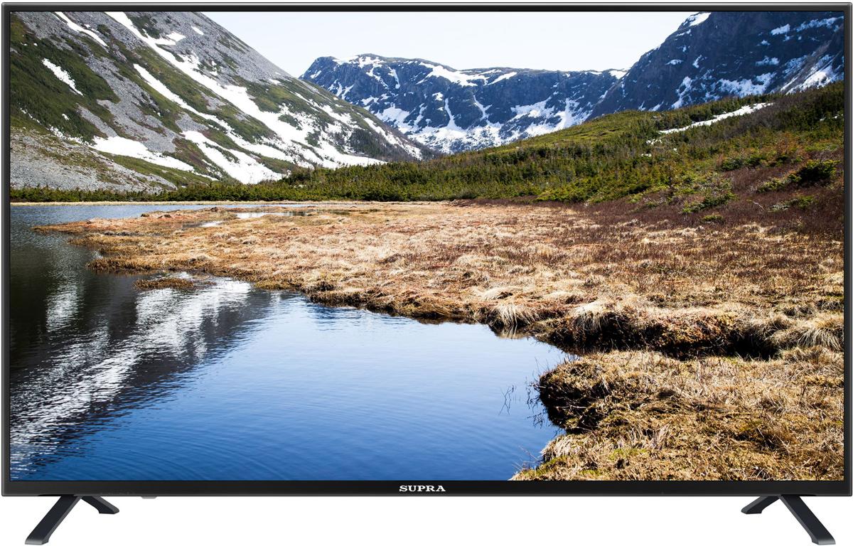 Supra STV-LC50LT0010F, Black телевизор11774Телевизор Supra STV-LC50LT0010F с насыщенной цветопередачей изображения на экране с разрешением 1920х1080 Full HD и широкими углами обзора. Источником сигнала для качественной реалистичной картинки служат не только цифровые эфирные и кабельные каналы, но и любые записи с внешних носителей, благодаря универсальному встроенному USB медиаплееру.Количество цветов: 16,7 миллионовПоддержка HDTVЯркость: 350 кд/м2Динамическая контрастность: 120000:1Угол обзора: 178°/178°Время отклика пикселя: 8 мс