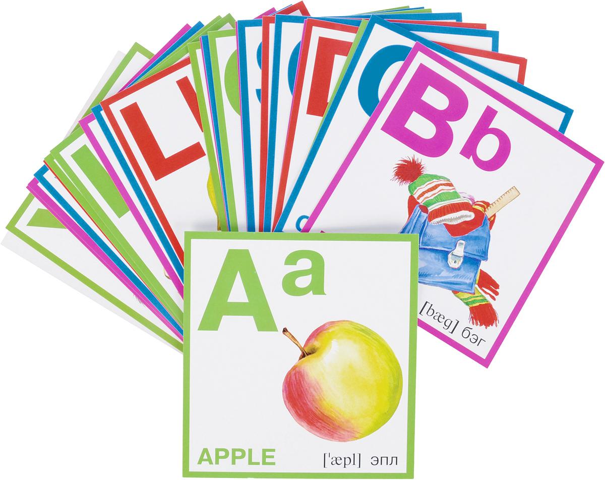 Азбука английская. Набор карточек наборы карточек шпаргалки для мамы набор карточек складываем сллоги