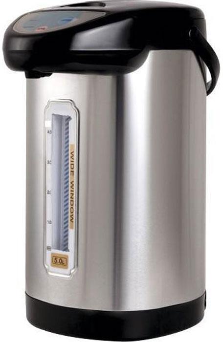 Gelberk GL-412 термопотGL-4124,8-литровый термопот Gelberk GL-412 предназначен для безопасной подачи кипятка.Два режима работы - автокипячение и поддержание температуры позволяют использовать термопот с наименьшими энергозатратами, при этом теплая вода или кипяток остаются всегда под рукой.Шкала уровня воды на корпусе позволяет легко определить необходимость наполнения термопота водой, а LED-индикаторы режимов работы - проконтролировать его состояние.Термопот оснащен такими функциями безопасности как автоматическое отключение при закипании и отключение при недостаточном количестве воды.