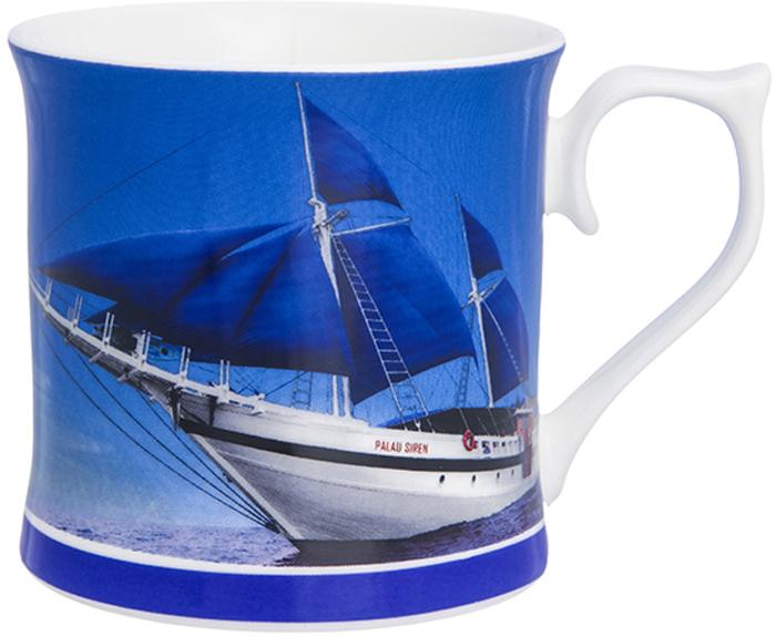 Кружка Elan Gallery Яхта с синими парусами, 380 мл230142Кружка классической формы объемом 380 мл с удобной ручкой. Подходит для любых горячих и холодных напитков: чая, кофе, какао. Изделие имеет подарочную упаковку, поэтому станет желанным подарком для ваших близких!