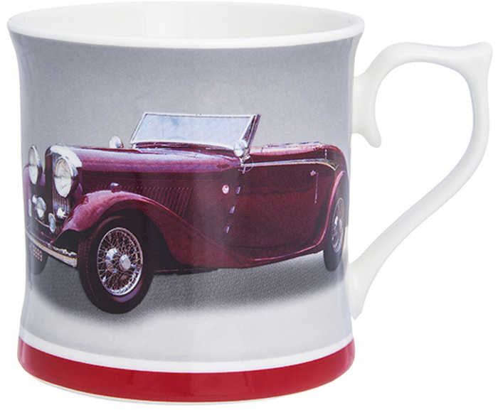Кружка Elan Gallery Ретромобиль бордовый, 380 мл230145Кружка классической формы объемом 380 мл с удобной ручкой. Подходит для любых горячих и холодных напитков: чая, кофе, какао. Изделие имеет подарочную упаковку, поэтому станет желанным подарком для ваших близких!