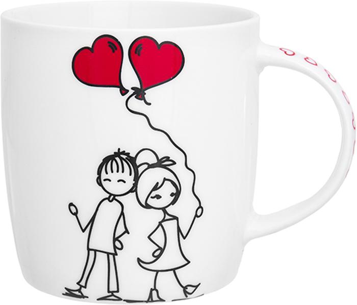 Кружка Elan Gallery Романтическая прогулка, 350 мл230172Кружка классической формы объемом 350 мл с удобной ручкой. Подходит для любых горячих и холодных напитков: чая, кофе, какао. Изделие имеет подарочную упаковку, поэтому станет желанным подарком для ваших близких!