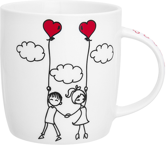Кружка Elan Gallery Романтический полет, 350 мл, 12 х 8,5 х 9 см230173Кружка классической формы объемом 350 мл с удобной ручкой. Подходят для любых горячих и холодных напитков, чая, кофе, какао. Изделие имеет подарочную упаковку, поэтому станет желанным подарком для ваших близких!