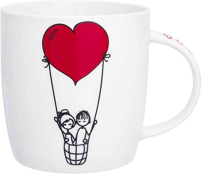Кружка Elan Gallery Полет влюбленных, 350 мл230174Кружка классической формы объемом 350 мл с удобной ручкой. Подходит для любых горячих и холодных напитков: чая, кофе, какао. Изделие имеет подарочную упаковку, поэтому станет желанным подарком для ваших близких!