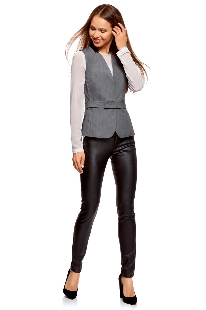 Купить Жилет женский oodji Collection, цвет: темно-серый меланж. 22301020-3B/18600/2500M. Размер 36 (42-170)