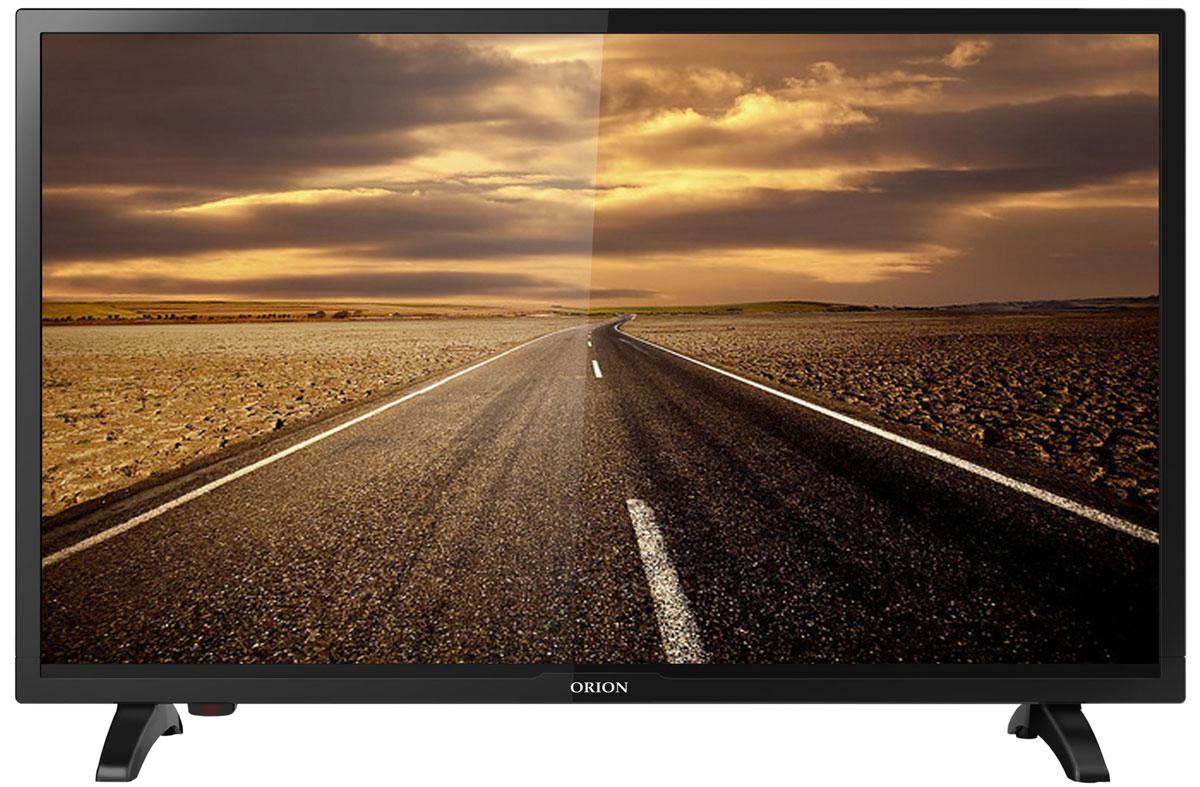 Orion ПТ-60ЖК-100ЦТ, Black телевизор11708Orion ПТ-60ЖК-100ЦТ - это многофункциональный телевизор, обладающий отличным качеством изображения. LED-подсветка обеспечивает четкость и яркость изображения, а экран обладает разрешением 1366x768 пикселей, яркостью 220 кд/м2, динамической контрастностью 60000:1 и широким углом обзора (178°).Телевизор имеет функцию телетекста, таймер сна и защиту от детей. Мощность звучания аудиосистемы составляет 6 Вт, также поддерживаются телевизионные стандарты DVB-T2/C. Телевизор оборудован USB-портом и HDMI-входом.
