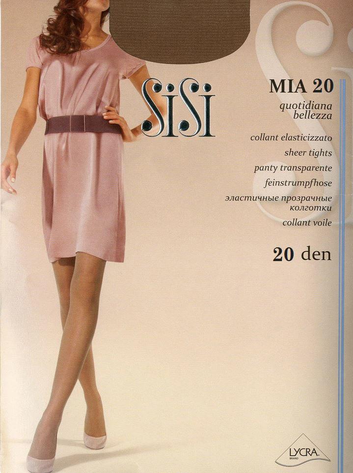 Колготки Sisi Mia 20, цвет: Daino (коричневый). Размер 5 колготки sisi mia размер 4 плотность 40 den daino