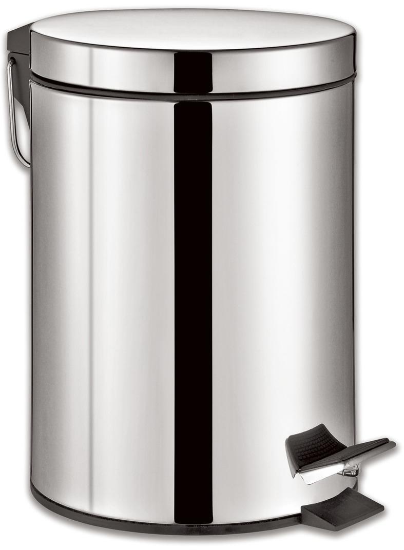 Ведро-контейнер для мусора Лайма Classic, с педалью, цвет: серебристый, 5 л232260Ведро-контейнер для мусора объёмом 5 литров. Изготовлено из нержавеющей стали со специальным антикоррозийным покрытием. Оборудовано педалью. Внутреннее съемное пластиковое ведро имеет удобную рукоятку для извлечения.