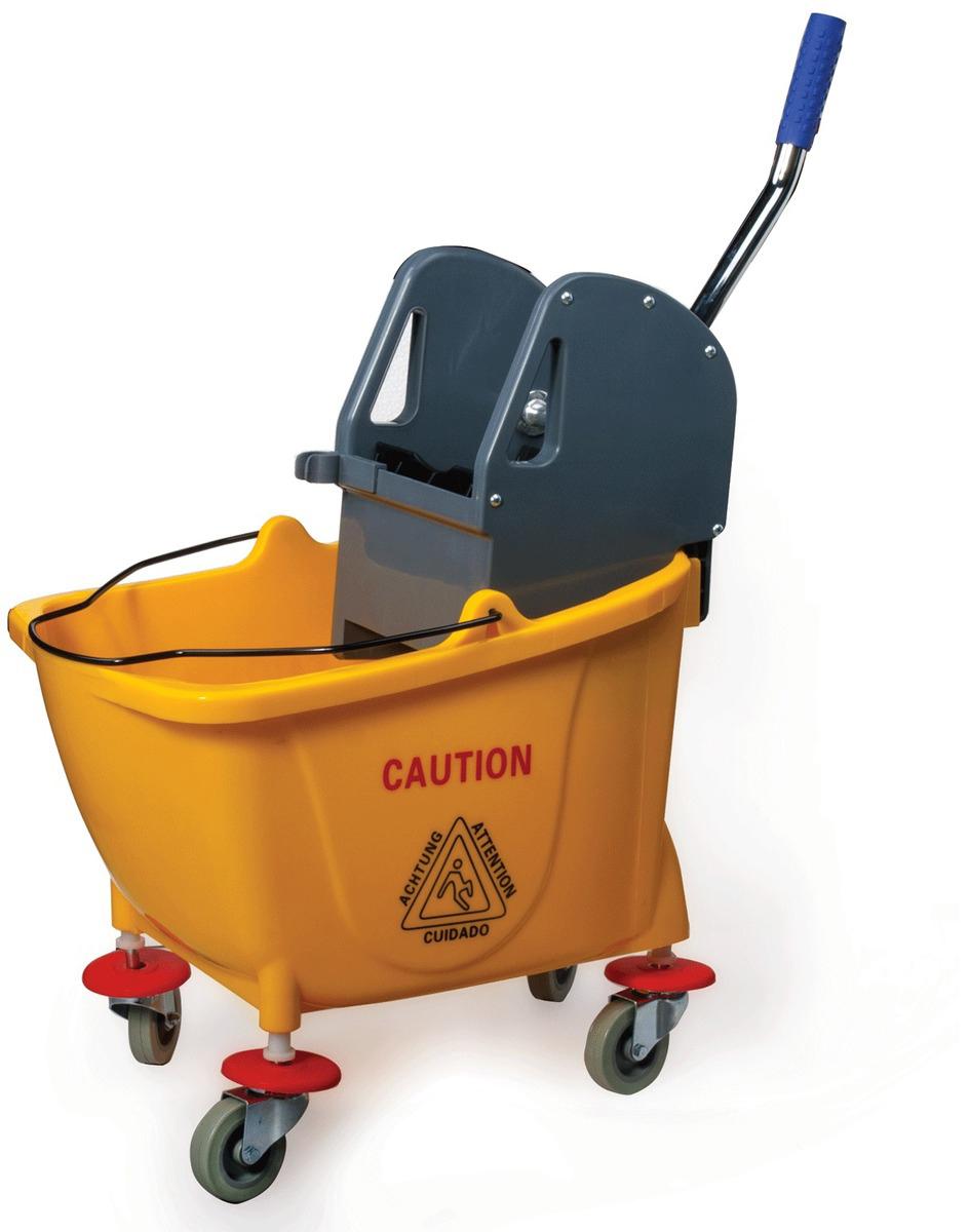 Тележка для уборки Лайма  Проф , с механическим отжимом, цвет: желтый -  Инвентарь для уборки