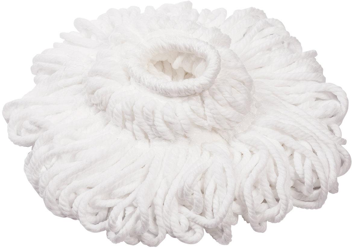 Насадка для швабры Лайма Моп, веревочная, цвет: белый, 30 см603601Насадка Лайма предназначена для проведения влажной уборки. Используется в комплексе с самоотжимной шваброй. Веревочная насадка изготовлена из микрофибры и скреплена линиями прошивки. Отлично впитывает, не оставляет разводов и ворса. Для самоотжимной швабры.