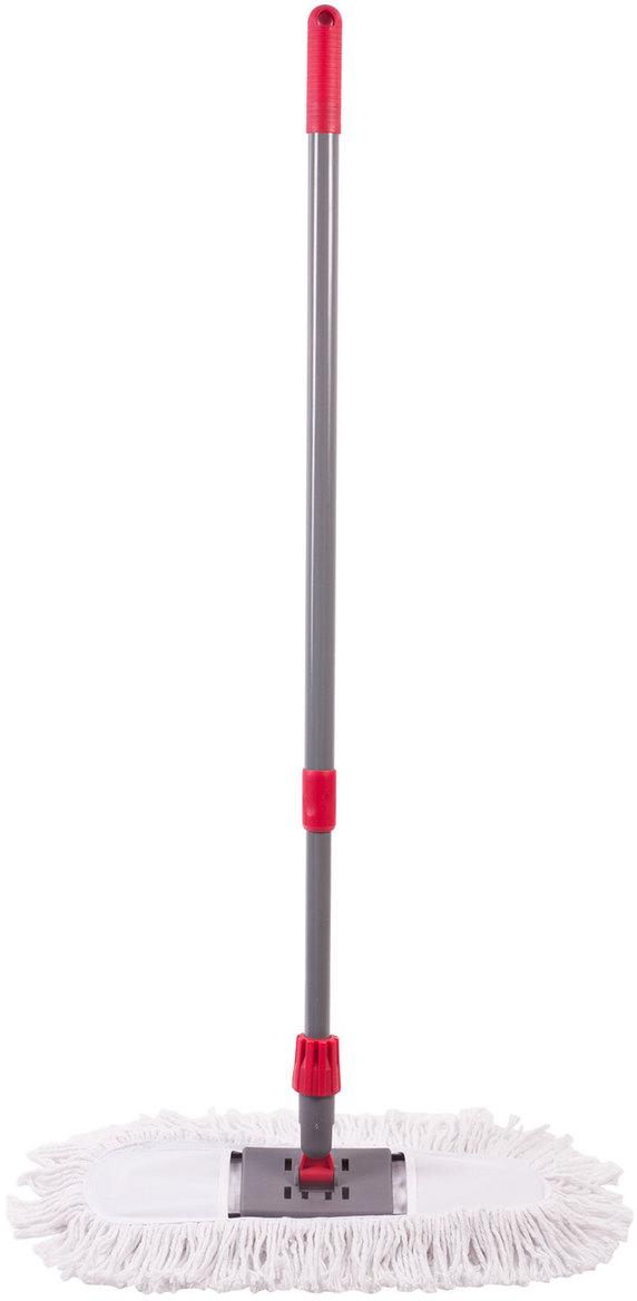 Швабра-рамка Лайма Бюджет, с насадкой Моп, цвет: красный, 125 см. 603605 швабра loks super cleaning с насадкой для отжима цвет розовый l10 2757 11