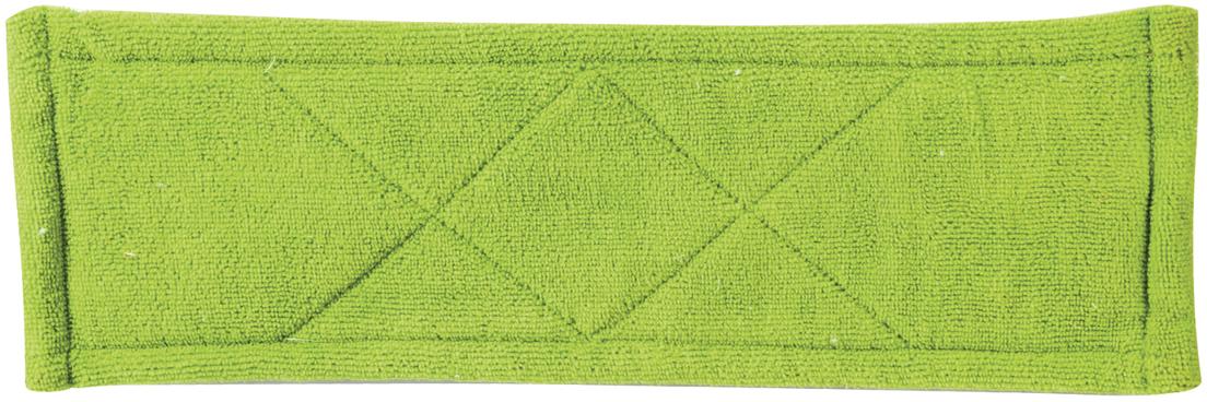 Насадка для швабры Любаша, на липучке, цвет: зеленый, 26 см603608Двухслойная насадка для швабры-бабочки Любаша предназначена для проведения влажной уборки. Используется в комплекте со шваброй, к которой она крепится с помощью липучки. Верхний слой - спонж - отлично моет, нижний - микрофибра - мягко полирует.