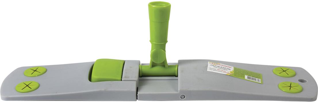 Держатель для швабры Любаша, для плоских насадок Моп с карманами, цвет: зеленый, 40 см швабра loks super cleaning с насадкой для отжима цвет розовый l10 2757 11